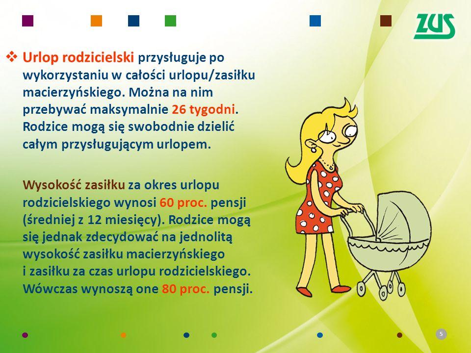 5 Urlop rodzicielski przysługuje po wykorzystaniu w całości urlopu/zasiłku macierzyńskiego.