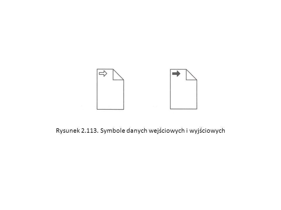 Rysunek 2.113. Symbole danych wejściowych i wyjściowych