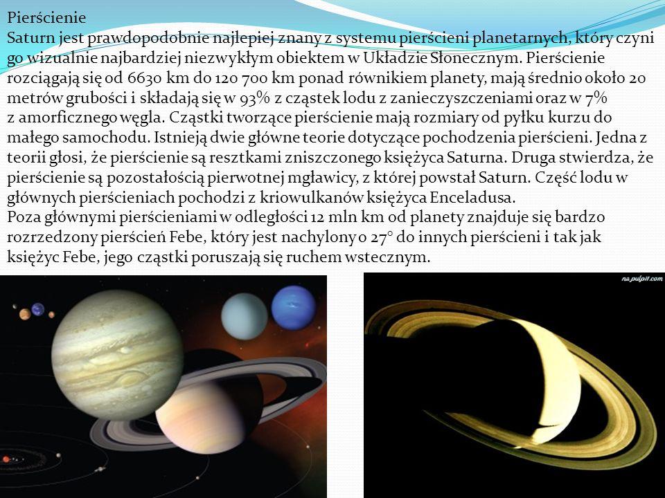 Pierścienie Saturn jest prawdopodobnie najlepiej znany z systemu pierścieni planetarnych, który czyni go wizualnie najbardziej niezwykłym obiektem w U