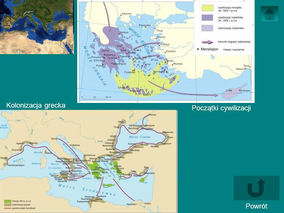 Powrót Początki cywilizacji Kolonizacja grecka