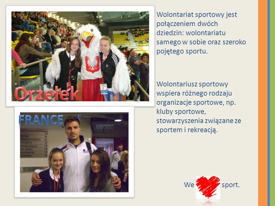 Wolontariat sportowy jest połączeniem dwóch dziedzin: wolontariatu samego w sobie oraz szeroko pojętego sportu.