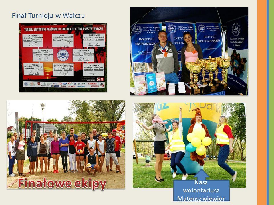 Finał Turnieju w Wałczu Nasz wolontariusz Mateusz wiewiór