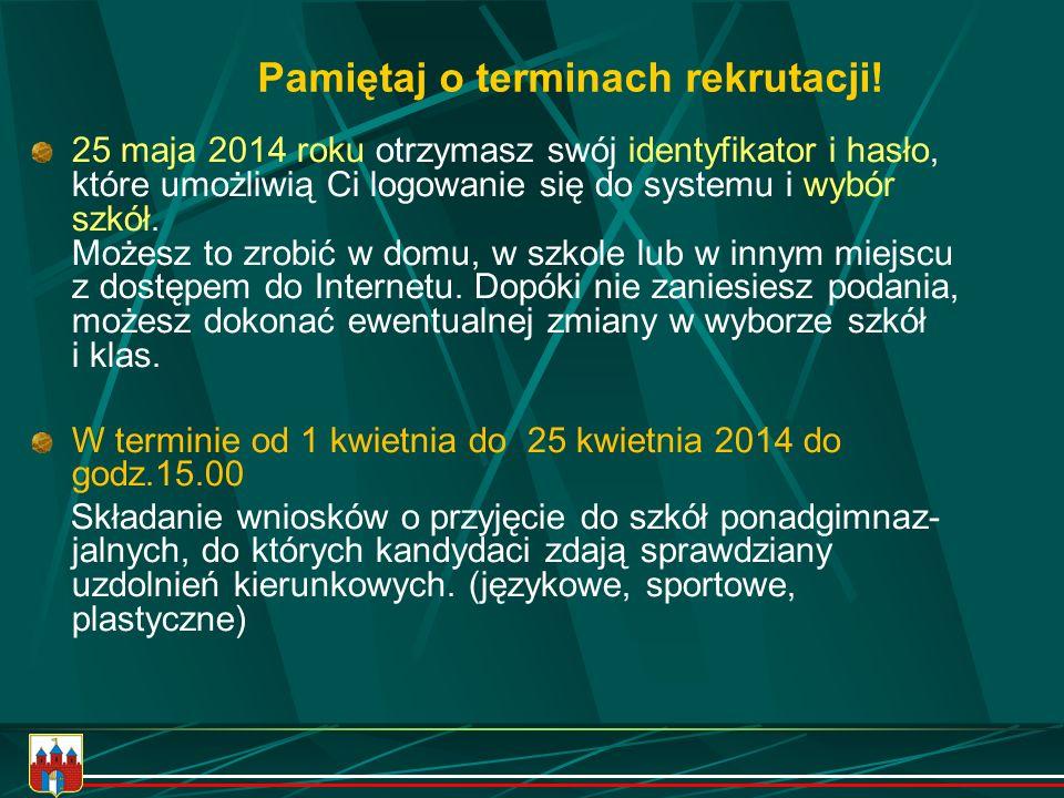 Bliższe informacje znajdziesz w informatorze o szkołach ponadgimnazjalnych miasta BYDGOSZCZY www.bydgoszcz.pl w zakładce Informator - Edukacja lub www