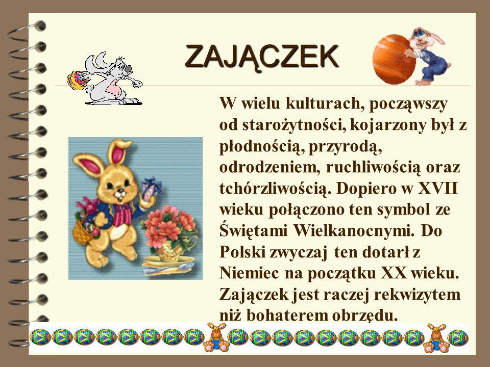 KURCZAK Jest ściśle związany z symbolem jajka.