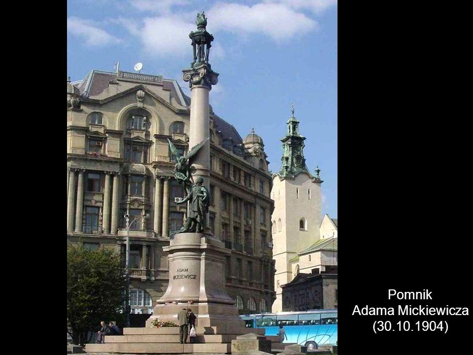 Pomnik Króla Jana III Sobieskiego -na Wałach Hetmańskich, ufundowany przez miasto i odsłonięty 20 listopada 1898 r.