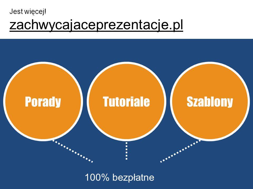 Jest więcej! zachwycajaceprezentacje.pl Porady Tutoriale Szablony 100% bezpłatne