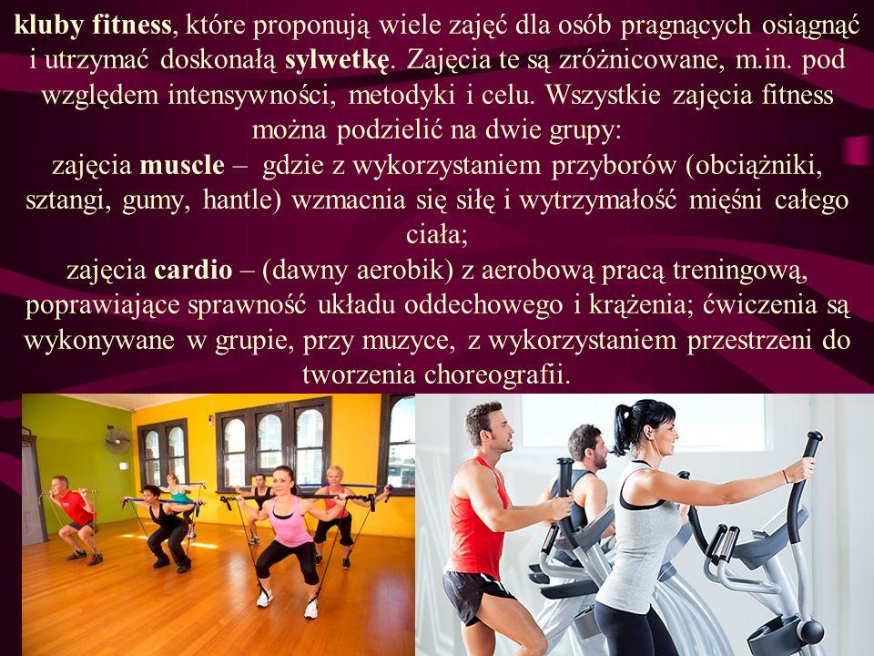 Osoby z dużą nadwagą Najbardziej wskazane są ćwiczenia angażujące duże grupy mięśniowe, powtarzane cyklicznie oraz wykonywane w warunkach odciążenia stawów, np.: jazda na rowerze, na nartach, gimnastyka w wodzie (aquaaerobik), nordic-walking (marsz z kijkami), pływanie.