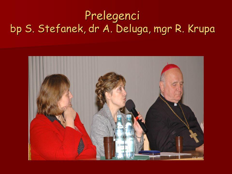 Prelegenci bp S. Stefanek, dr A. Deluga, mgr R. Krupa
