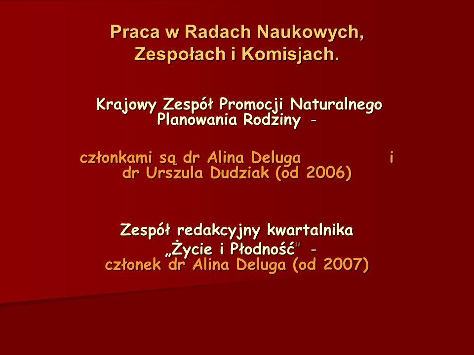 Praca w Radach Naukowych, Zespołach i Komisjach.