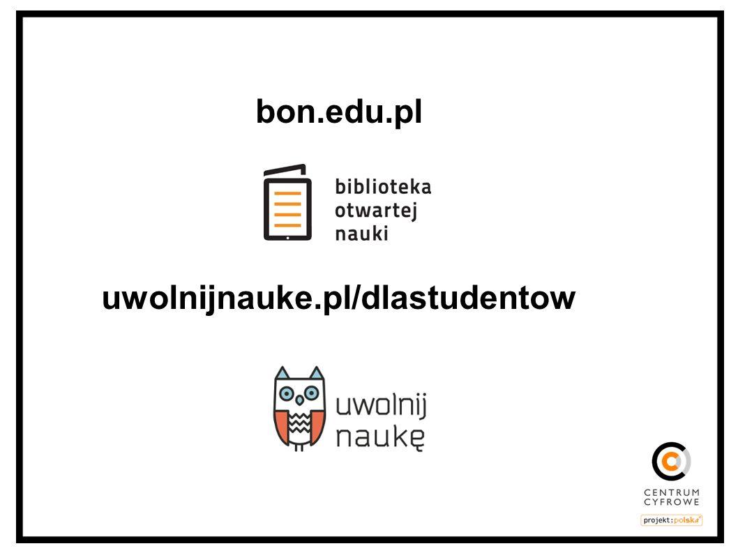 bon.edu.pl uwolnijnauke.pl/dlastudentow