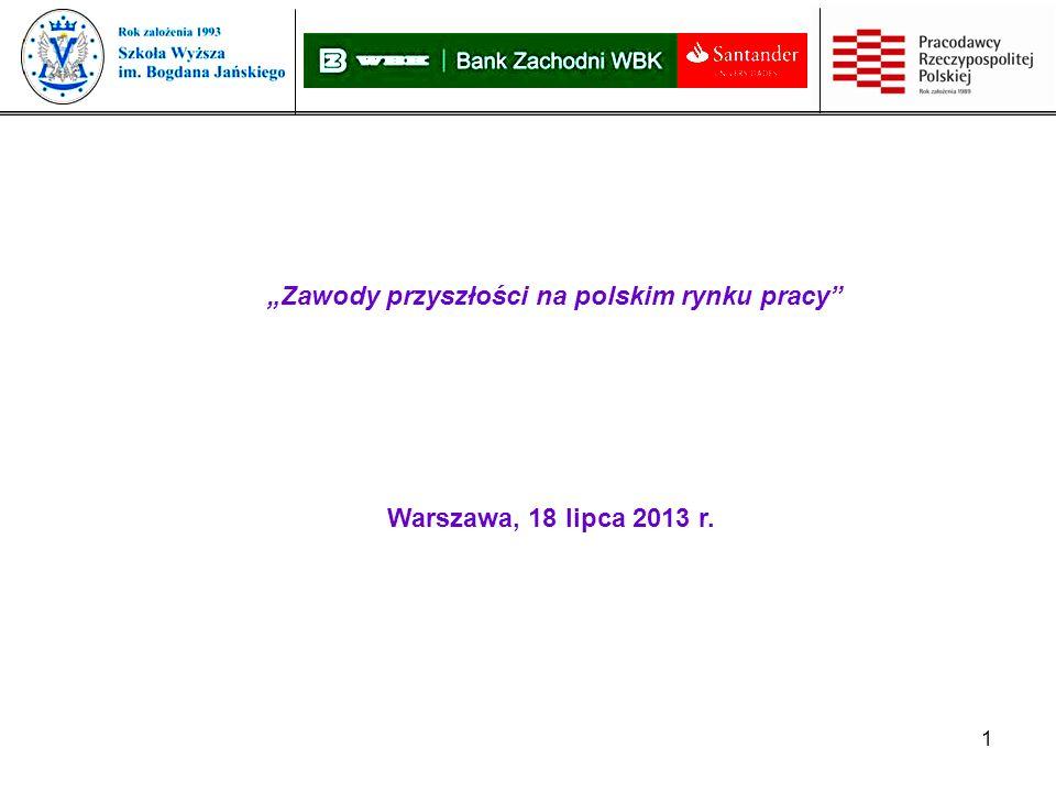 1 Zawody przyszłości na polskim rynku pracy Warszawa, 18 lipca 2013 r.