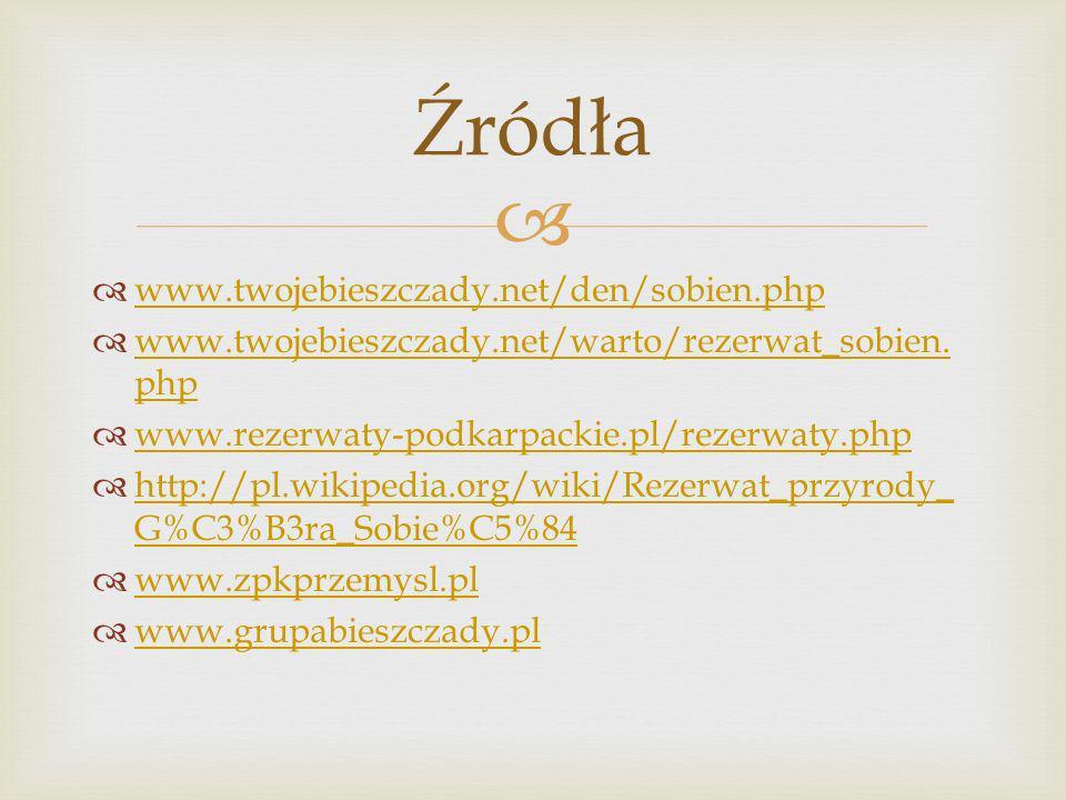 www.twojebieszczady.net/den/sobien.php www.twojebieszczady.net/warto/rezerwat_sobien. php www.twojebieszczady.net/warto/rezerwat_sobien. php www.rezer