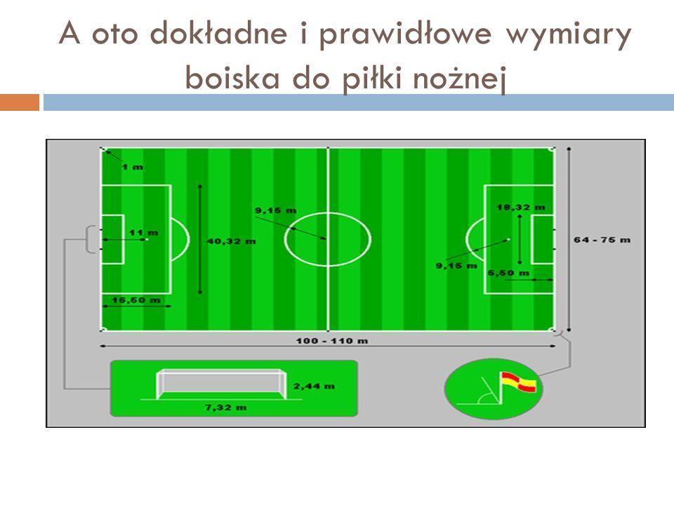 A oto dokładne i prawidłowe wymiary boiska do piłki nożnej