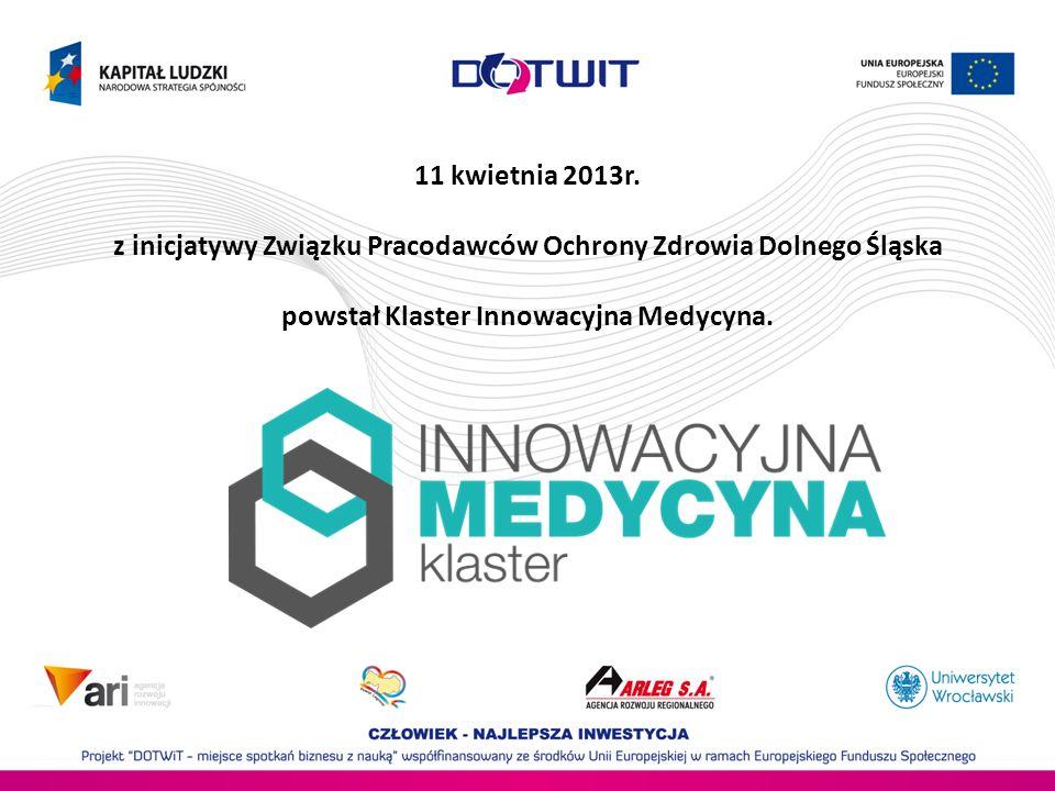 11 kwietnia 2013r. z inicjatywy Związku Pracodawców Ochrony Zdrowia Dolnego Śląska powstał Klaster Innowacyjna Medycyna.