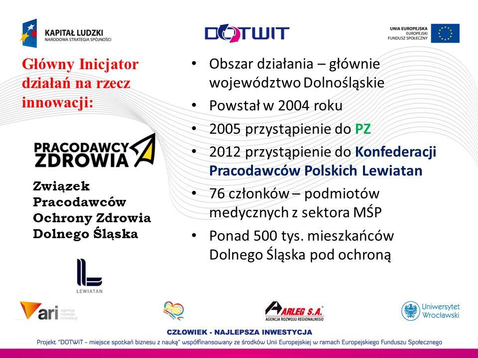 Obszar działania – głównie województwo Dolnośląskie Powstał w 2004 roku 2005 przystąpienie do PZ 2012 przystąpienie do Konfederacji Pracodawców Polski