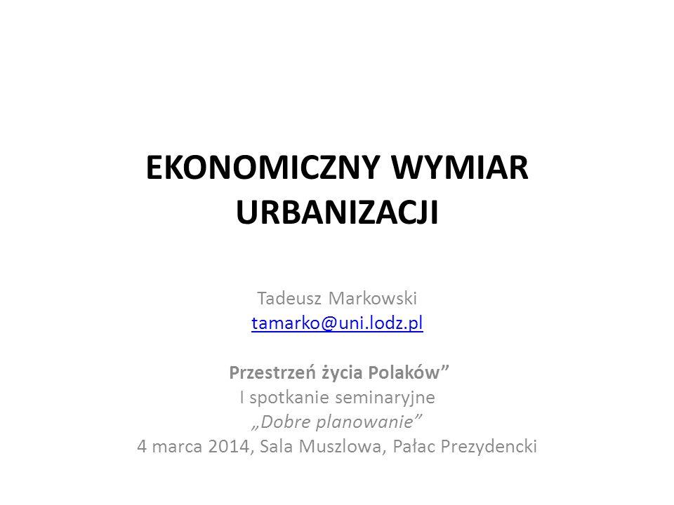 Wnioski i rekomendacje Zapewnienie minimalnej sprawności rynków nieruchomości powinno stać się jedną z ważniejszych zasad budowania systemu interwencji państwa w sferę funkcjonowania gospodarki przestrzennej (Markowski, Raport z Kongresu w Lublinie, 2013).