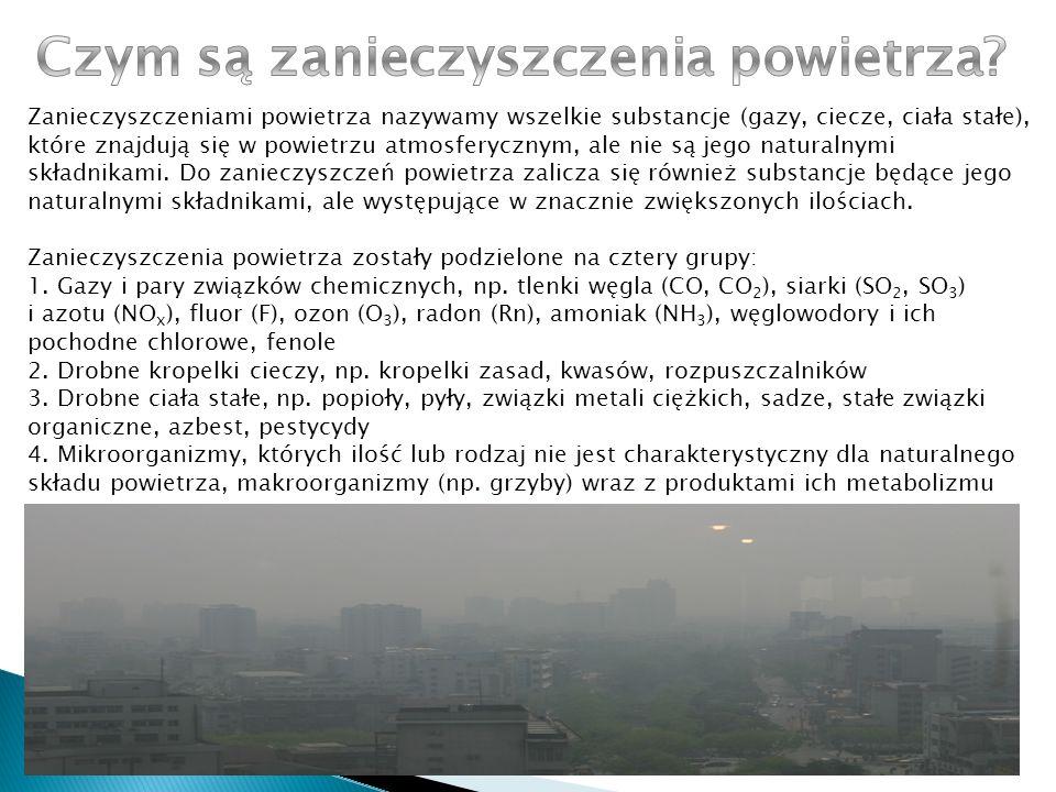 Zacznijmy może od samych przyczyn zanieczyszczenia powietrza.