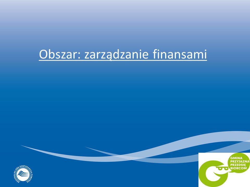 Obszar: zarządzanie finansami