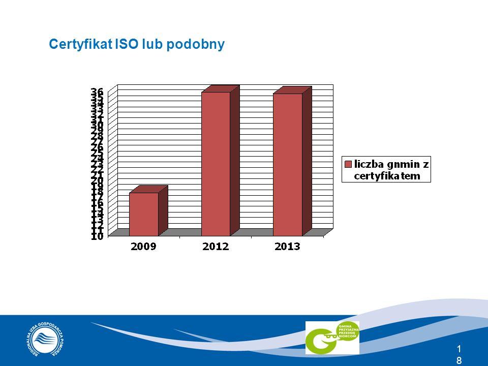 18 Certyfikat ISO lub podobny