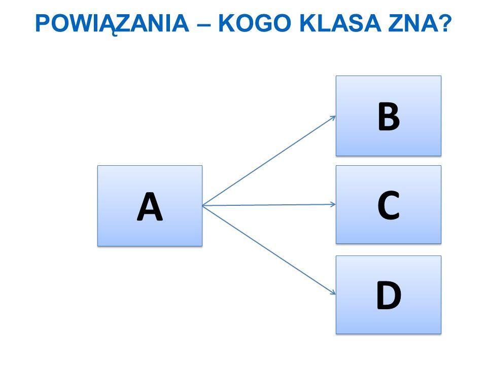 POWIĄZANIA – KOGO KLASA ZNA? A A B B C C D D