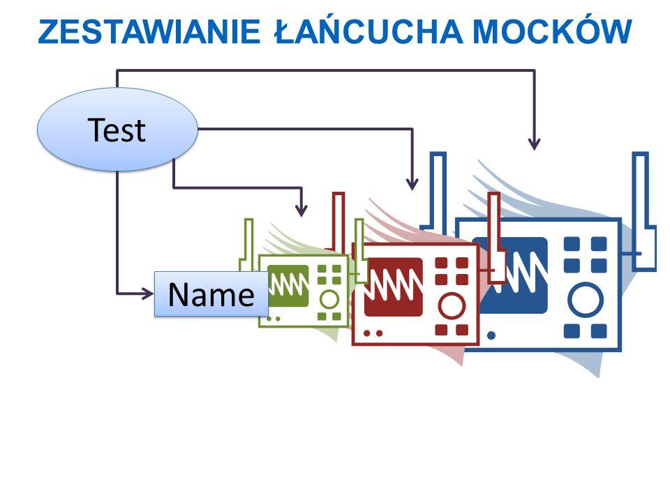 ZESTAWIANIE ŁAŃCUCHA MOCKÓW Test Name