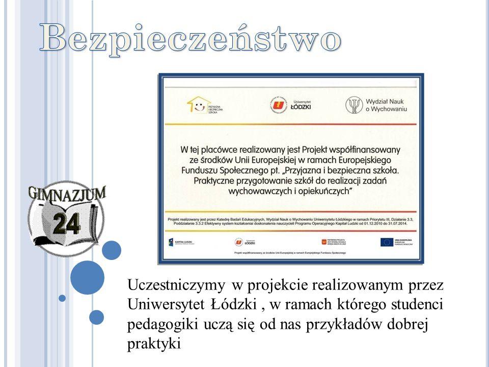 Uczestniczymy w projekcie realizowanym przez Uniwersytet Łódzki, w ramach którego studenci pedagogiki uczą się od nas przykładów dobrej praktyki