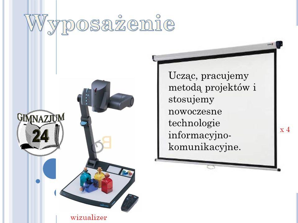 Ucząc, pracujemy metodą projektów i stosujemy nowoczesne technologie informacyjno- komunikacyjne. x 4 wizualizer