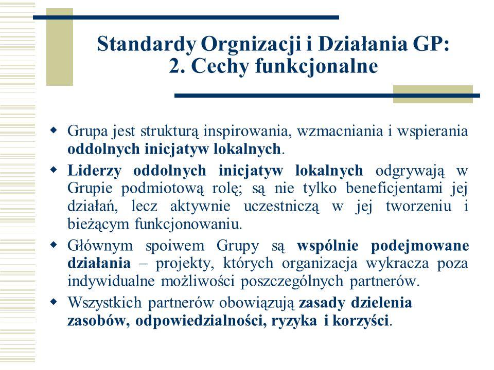 Standardy Orgnizacji i Działania GP: 2.