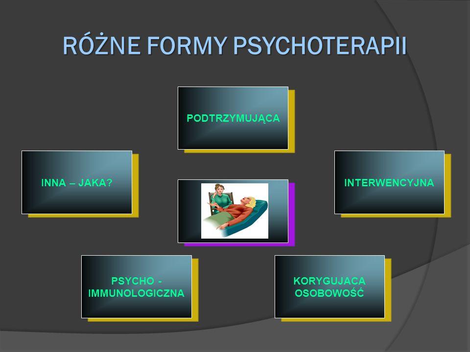 RÓŻNE FORMY PSYCHOTERAPII
