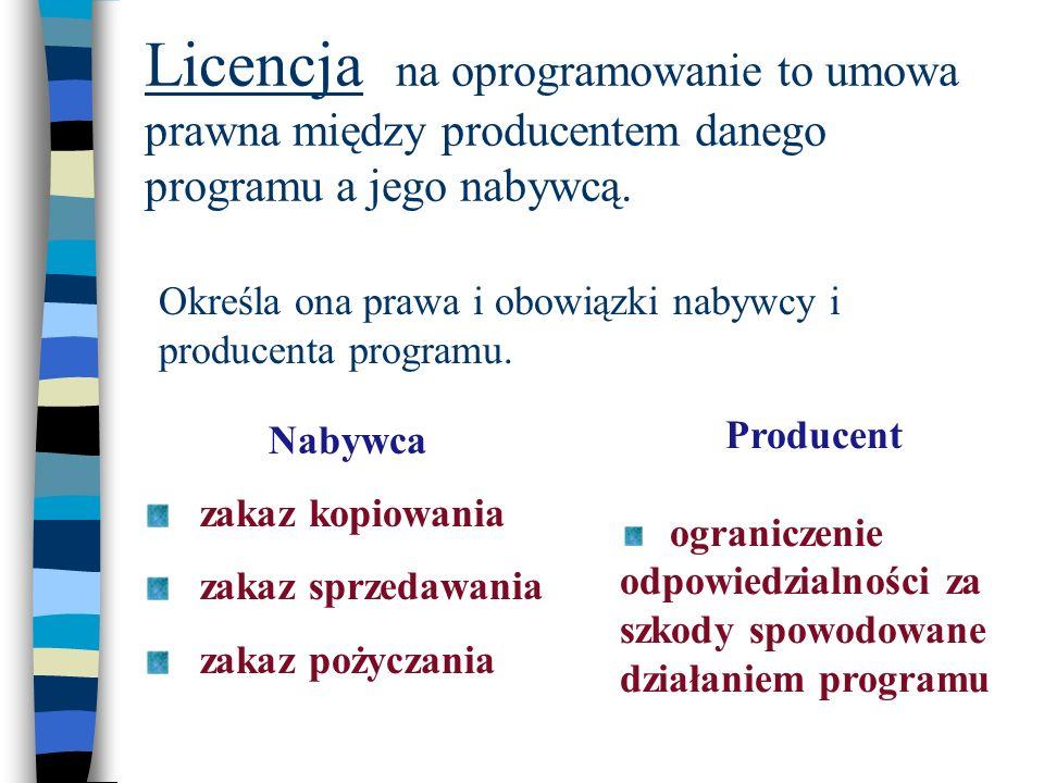 Licencja na oprogramowanie to umowa prawna między producentem danego programu a jego nabywcą. Określa ona prawa i obowiązki nabywcy i producenta progr