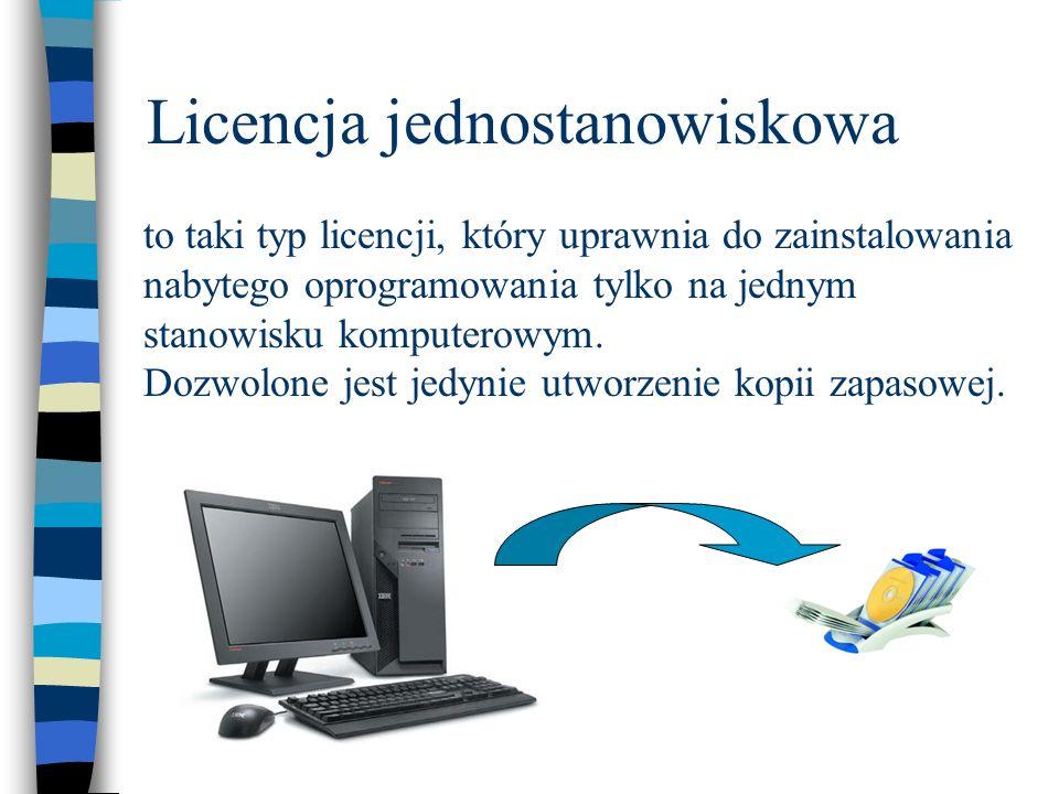 Licencja jednostanowiskowa to taki typ licencji, który uprawnia do zainstalowania nabytego oprogramowania tylko na jednym stanowisku komputerowym. Doz