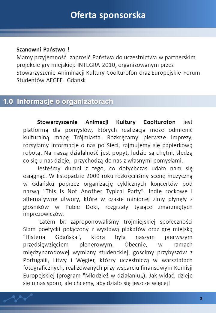 Oferta sponsorska 3 1.0 Informacje o organizatorach Szanowni Państwo .