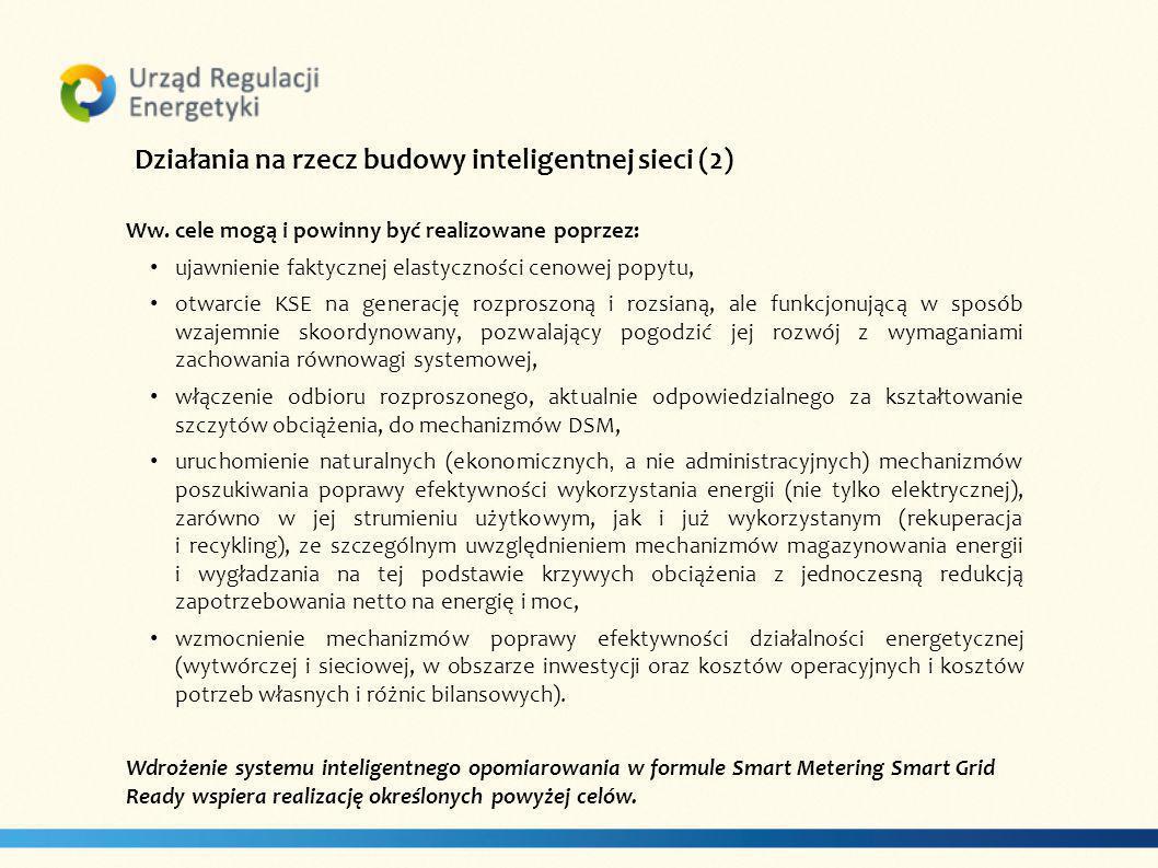 Działania na rzecz budowy inteligentnej sieci (2) Ww.