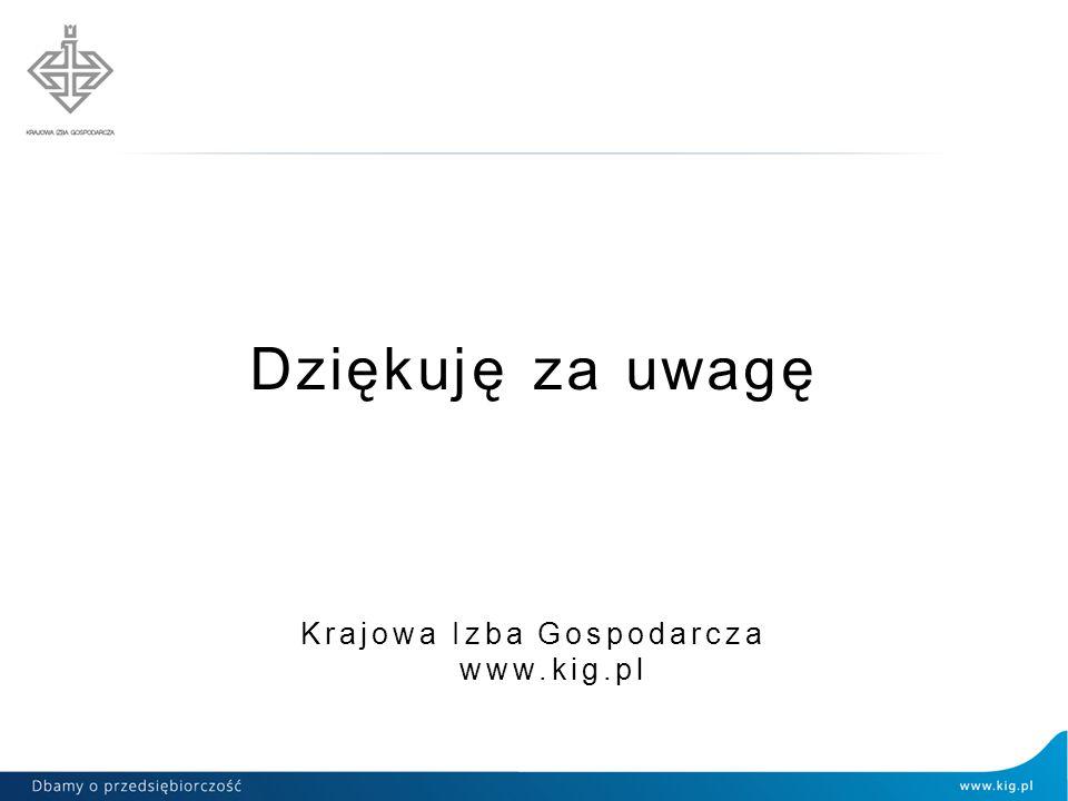 Dziękuję za uwagę Krajowa Izba Gospodarcza www.kig.pl