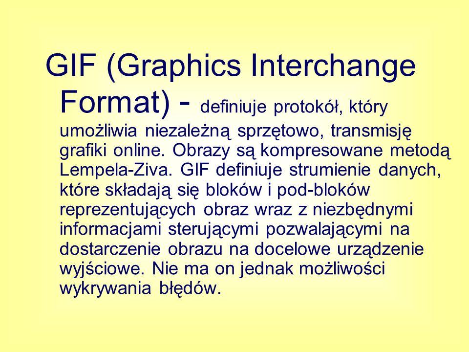 TIFF (Tagged Image File Format) - jest używany do wymieniania plików między aplikacjami i platformami komputerowymi.