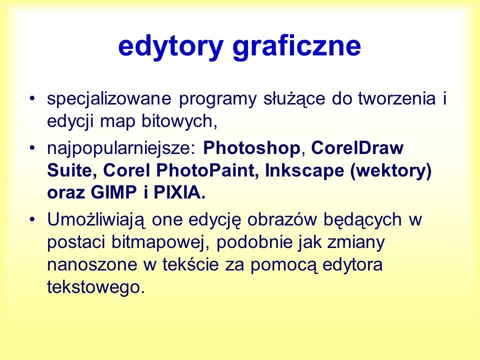 Inne programy do obróbki grafiki IrfanView (przeglądarka grafiki i zdjęć) RawShooter Essentials 2006 GIMP 2.4.4 Picasa 2.7 – darmowy ThumbsPlus 7 – komercyjny Corel Paint Shop Pro X2 - komercyjny