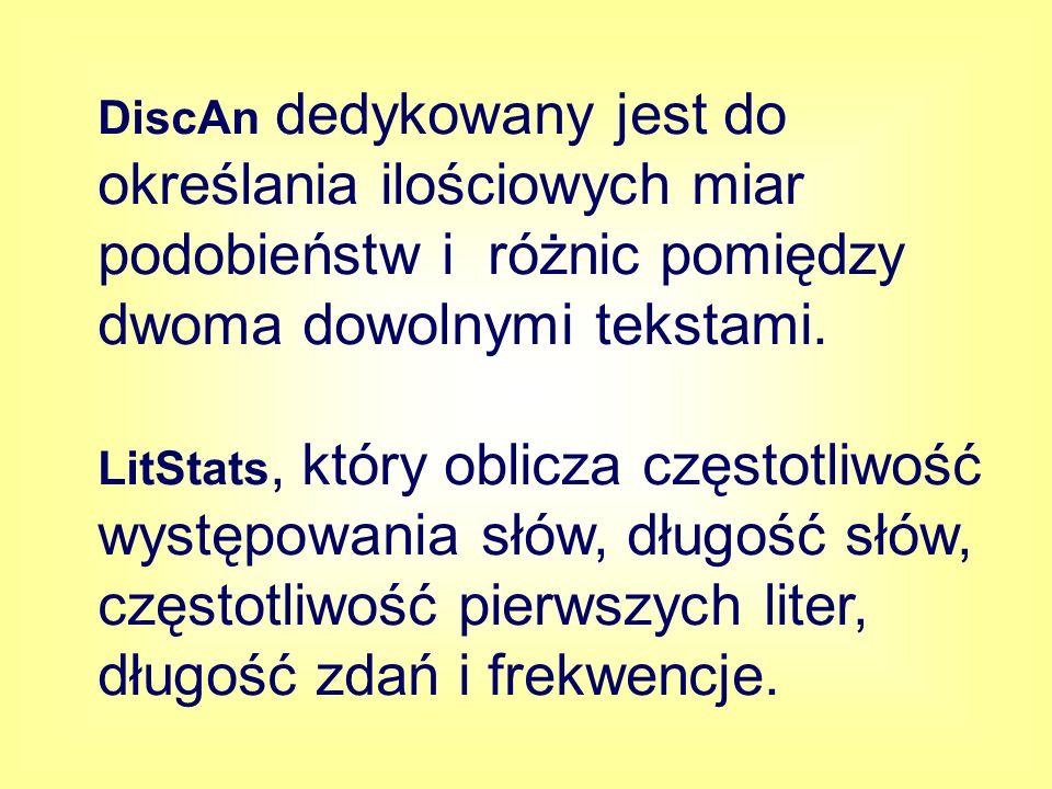 Ocena tekstu Wśród wielu parametrów, które potencjalnie stanowią o czytelności tekstu, wyróżniono cztery najistotniejsze.