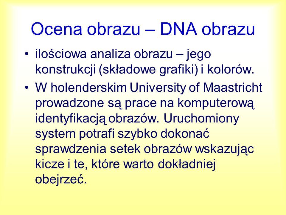 DNA obrazu Idea polega na wyróżnianiu dużej liczby niezależnych składowych obrazu.