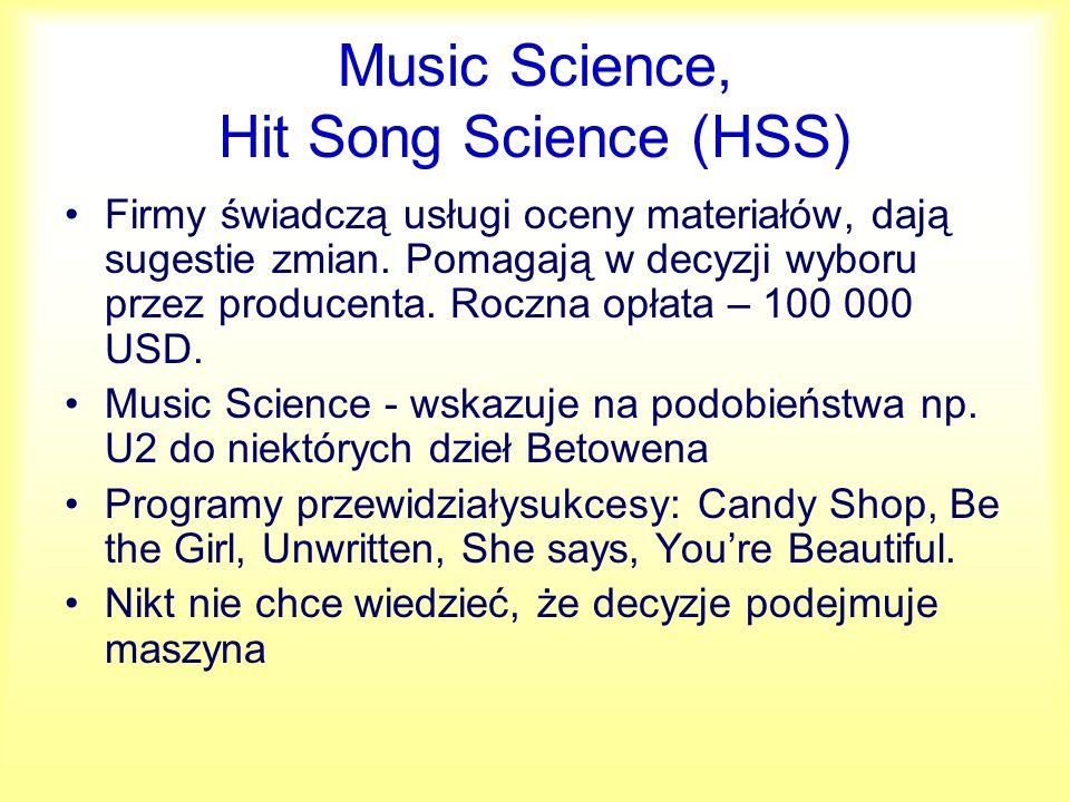 Zastosowania Dobór podobnych utworów w radiu Pomoc w doborze muzyki do filmów (Disney) Prawnicy do wstępnej oceny praw autorskich – plagiatów.