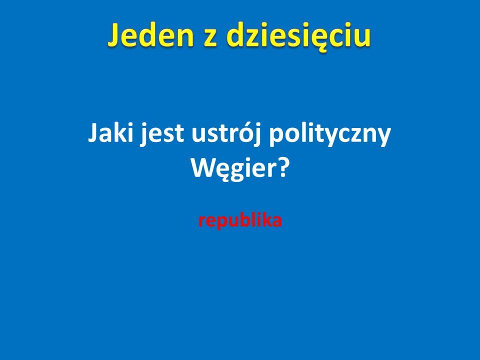 Jaki jest ustrój polityczny Węgier? republika