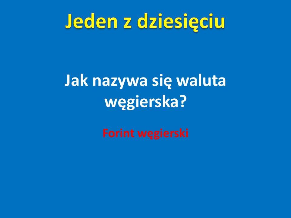 Jak nazywa się waluta węgierska? Forint węgierski