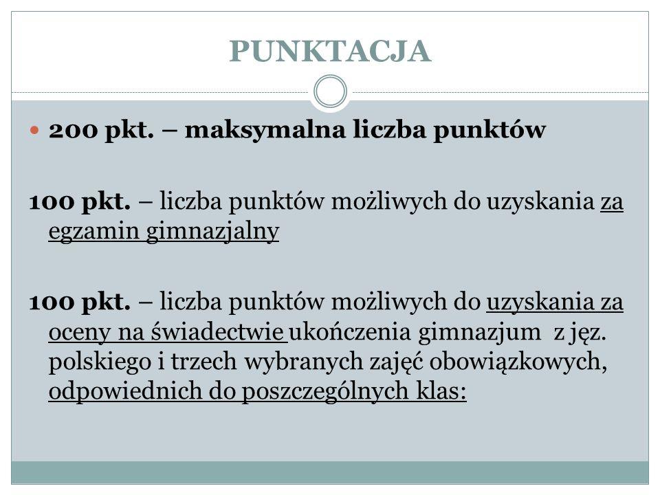 PRZEDMIOTY PUNKTOWANE 1 AN i 1 AH - jęz.polski, jęz.