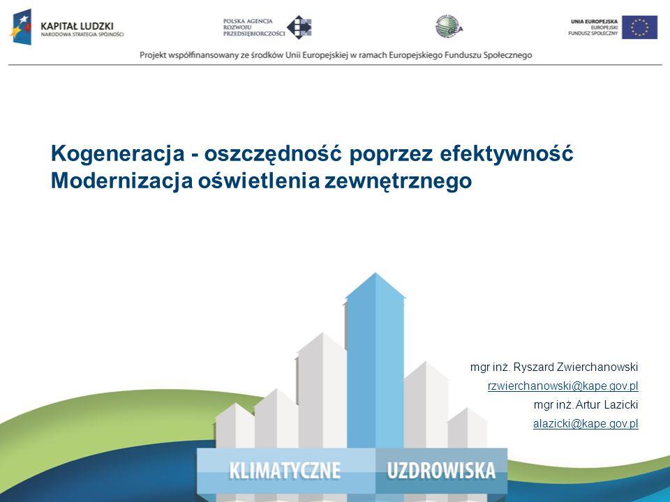 Wsparcie przedsiębiorstw w pozyskiwaniu świadectw efektywności energetycznej – Białe Certyfikaty mgr inż. Ryszard Zwierchanowski rzwierchanowski@kape.
