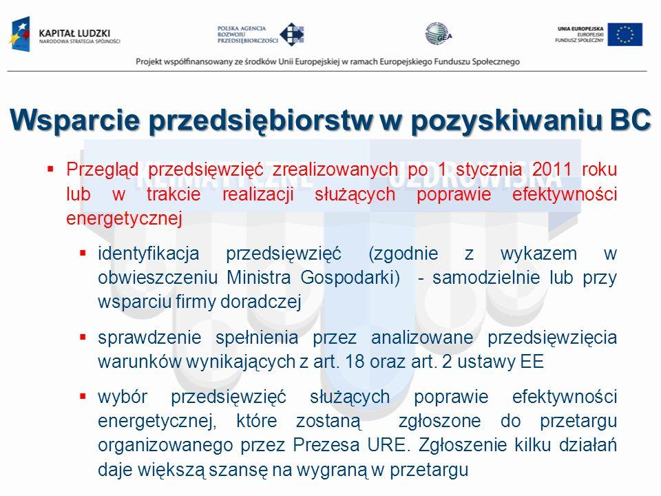 Przegląd przedsięwzięć zrealizowanych po 1 stycznia 2011 roku lub w trakcie realizacji służących poprawie efektywności energetycznej identyfikacja prz
