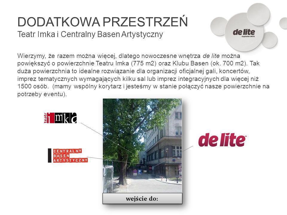 DODATKOWA PRZESTRZEŃ Teatr Imka i Centralny Basen Artystyczny Wierzymy, że razem można więcej, dlatego nowoczesne wnętrza de lite można powiększyć o p