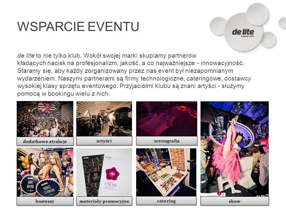 WSPARCIE EVENTU de lite to nie tylko klub. Wokół swojej marki skupiamy partnerów kładących nacisk na profesjonalizm, jakość, a co najważniejsze - inno