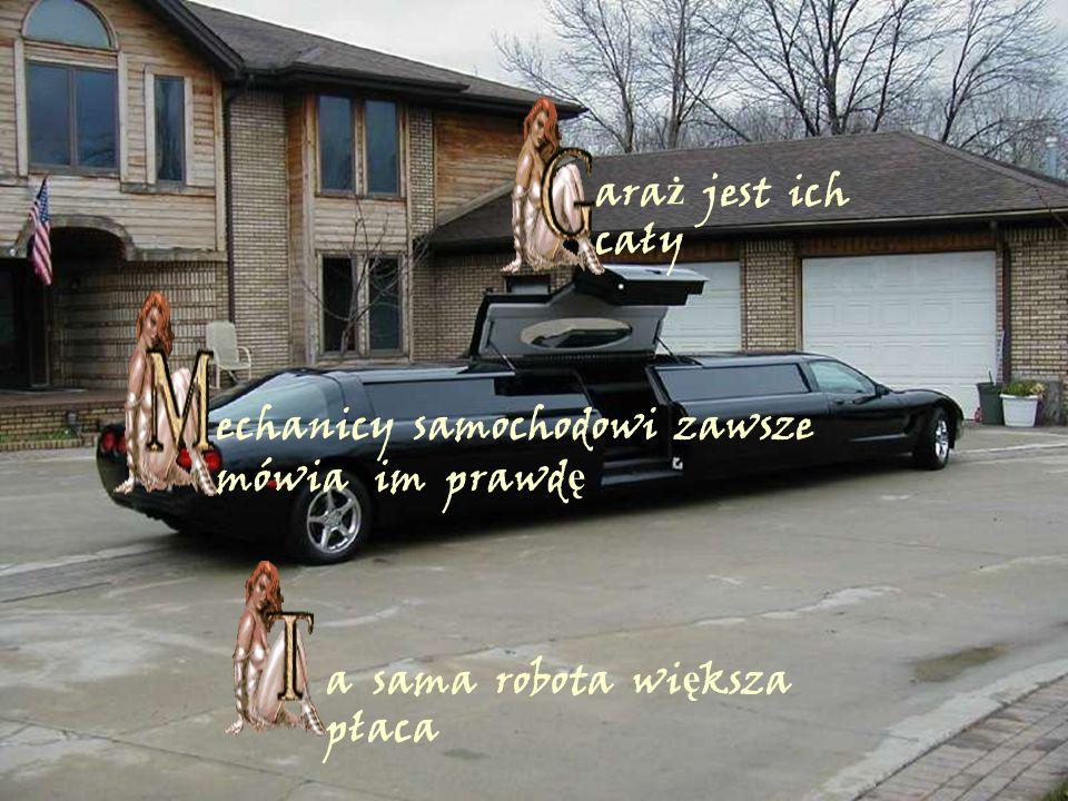 ara ż jest ich cały echanicy samochodowi zawsze mówia im prawd ę a sama robota wi ę ksza płaca