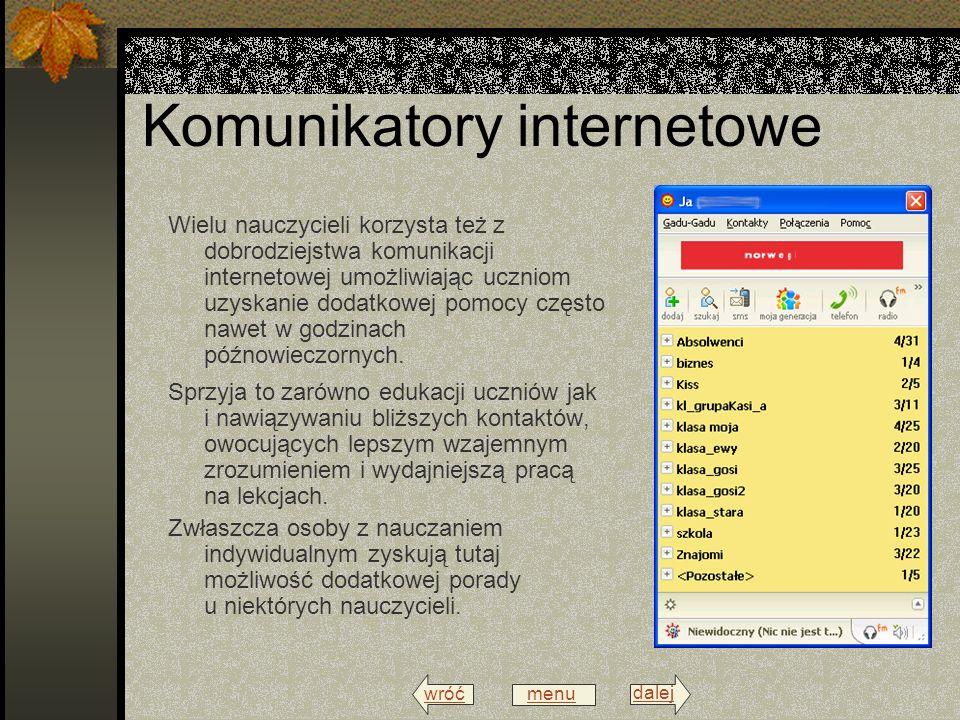 wróć menu dalej Platformy edukacyjne W roku 2009 szkoła na swoim serwerze zainstalowała platformę edukacyjna moodla.