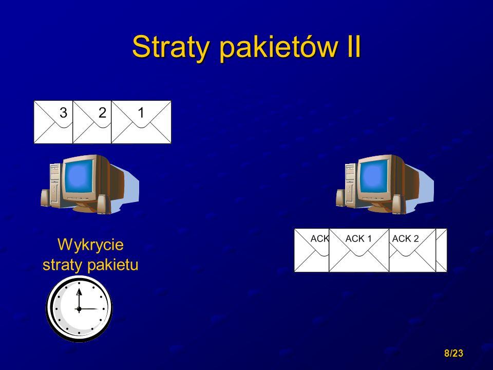 8/23 Straty pakietów II Wykrycie straty pakietu