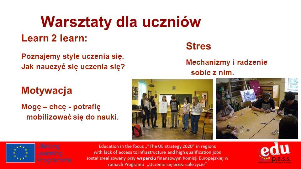 Warsztaty dla uczniów Learn 2 learn: Poznajemy style uczenia się.